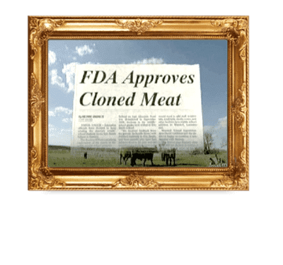 FDA says Cloned Meat OK to Eat